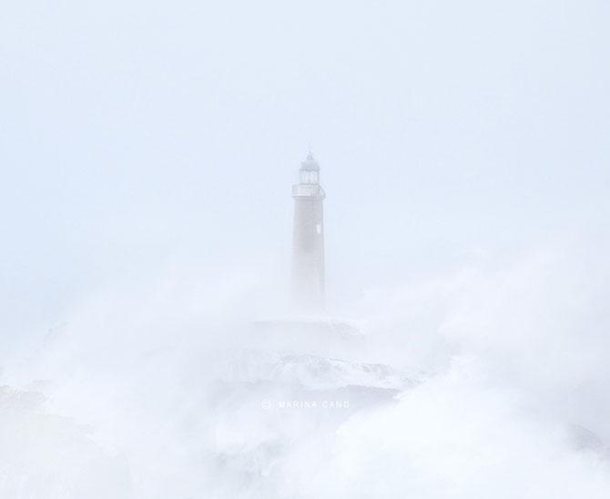 Oceanul din nordul Spaniei si farul - Poza 5