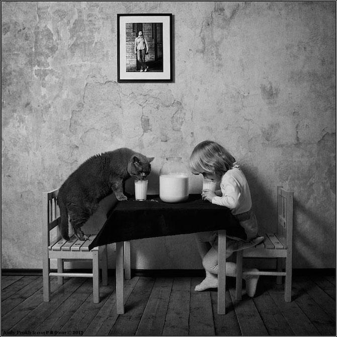 Prietenia dintre o fetita si pisica ei, de Andy Prokh - Poza 2