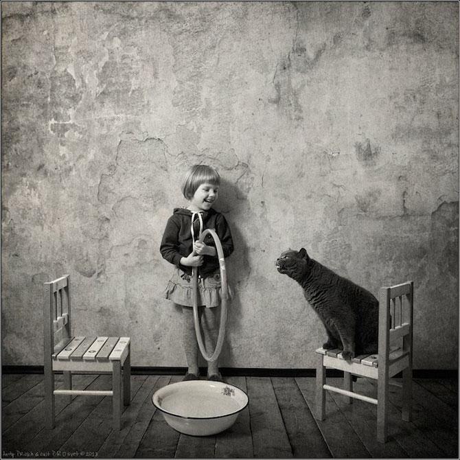 Prietenia dintre o fetita si pisica ei, de Andy Prokh - Poza 3