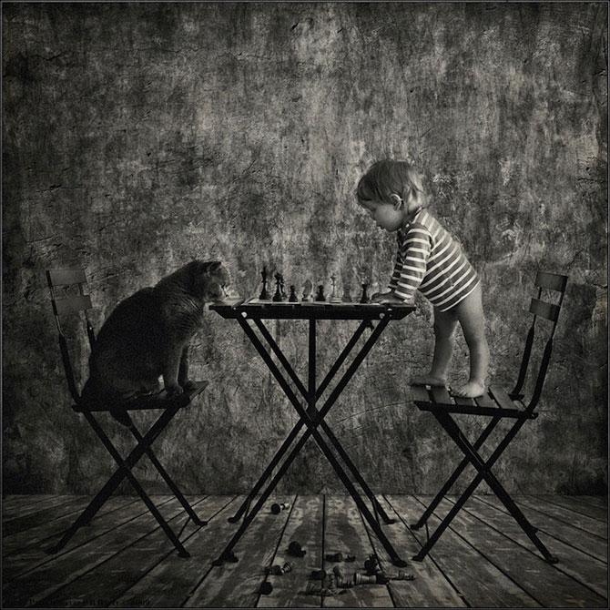 Prietenia dintre o fetita si pisica ei, de Andy Prokh - Poza 4