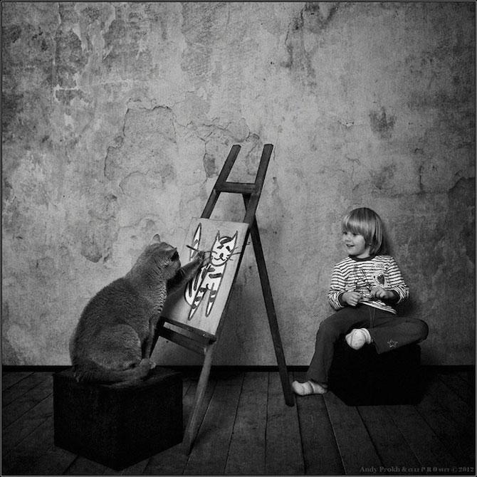 Prietenia dintre o fetita si pisica ei, de Andy Prokh - Poza 6