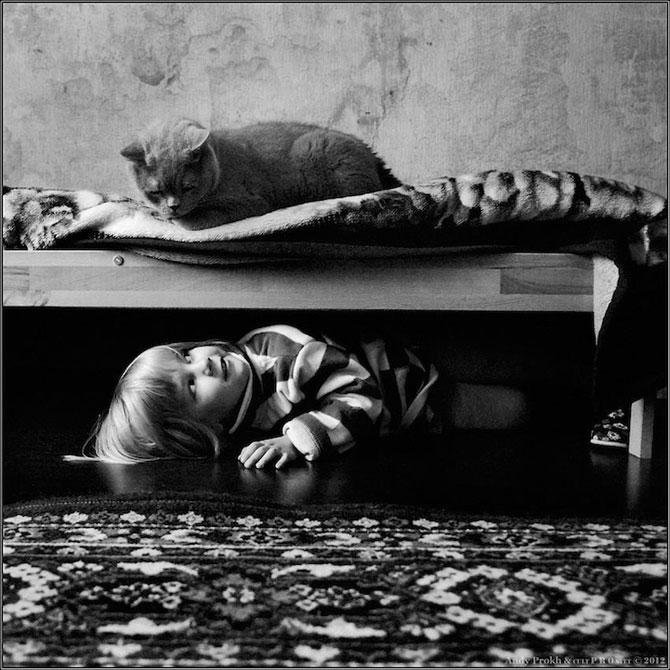 Prietenia dintre o fetita si pisica ei, de Andy Prokh - Poza 12