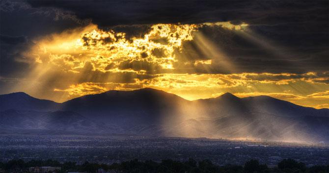 15 fotografii cu raze care strapung norii - Poza 5