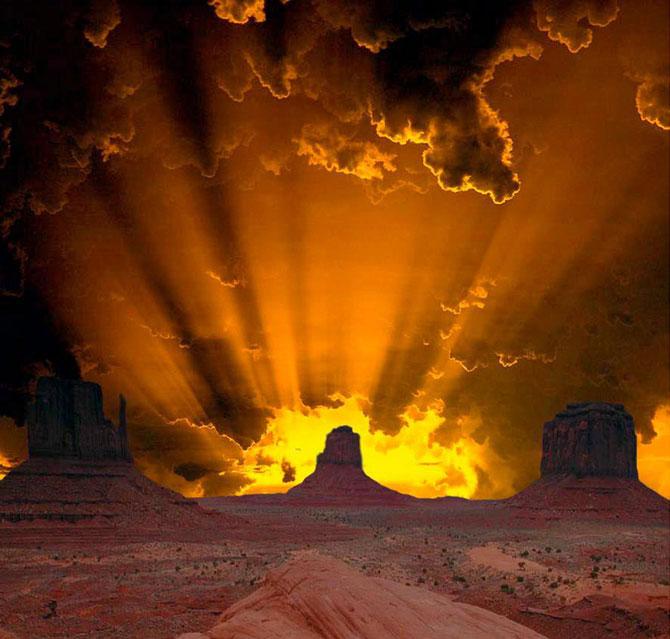 15 fotografii cu raze care strapung norii - Poza 14