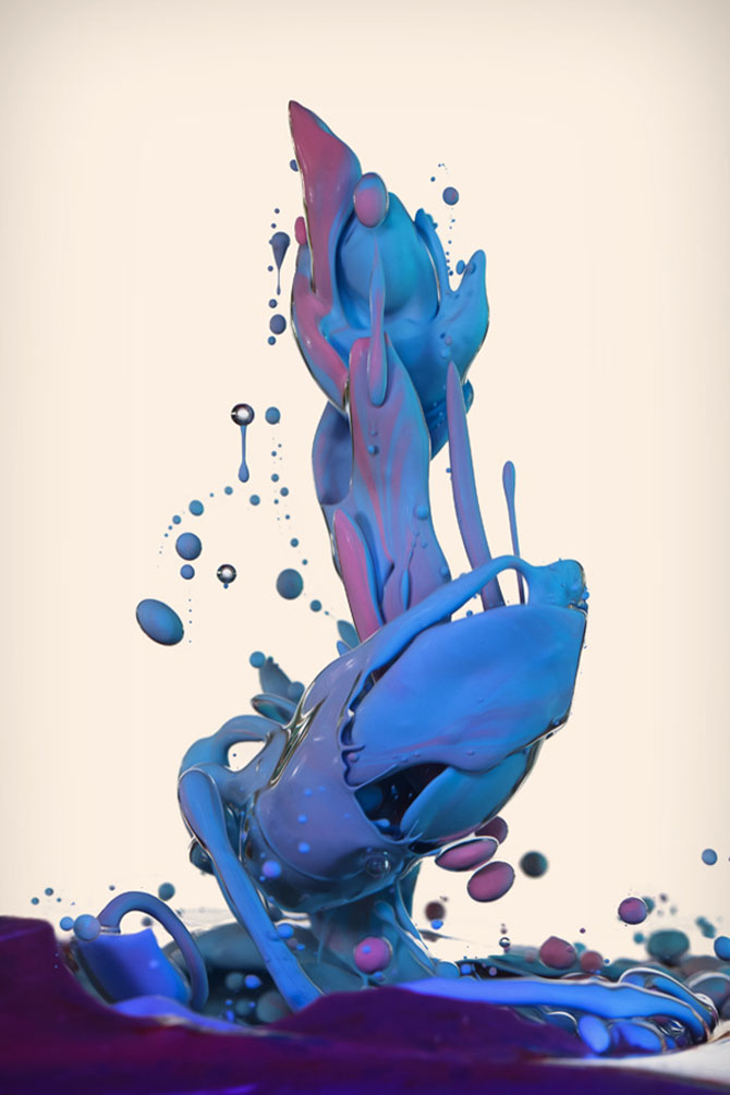 Fotografii abstracte cu vopseluri si ulei, de Alberto Seveso - Poza 1