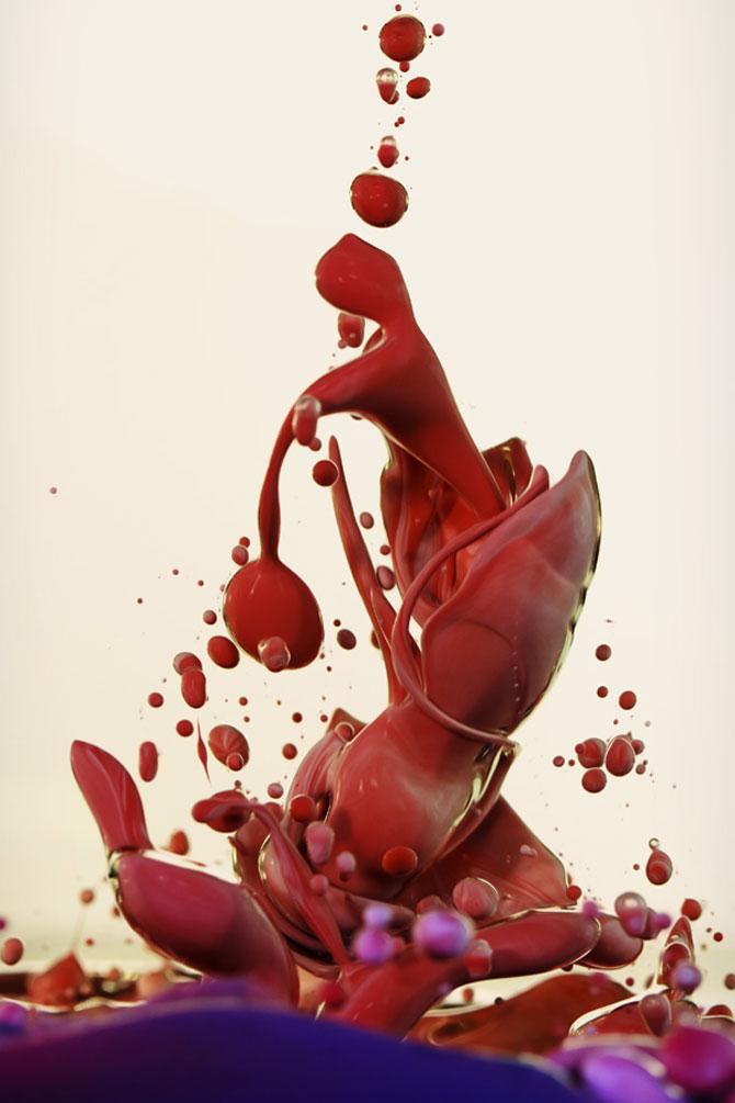 Fotografii abstracte cu vopseluri si ulei, de Alberto Seveso - Poza 3