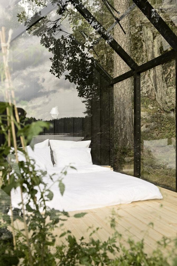 Cabana de gradina din sticla, cu priveliste la lac si padure - Poza 4