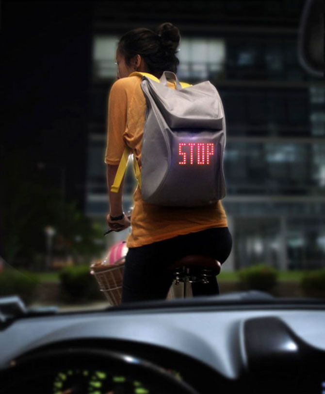 Semnalizare la purtator pentru biciclisti - Poza 1