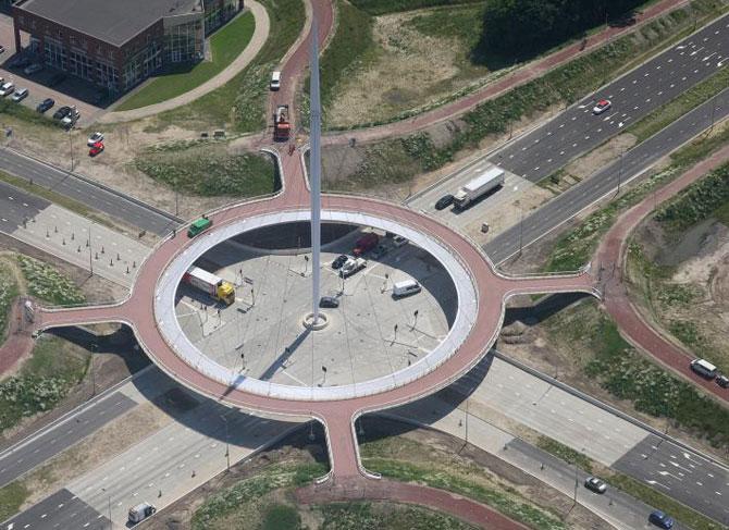 Giratoriu suspendat pentru biciclisti in Olanda - Poza 6