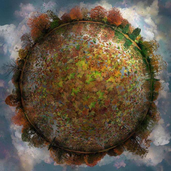 Colaje cu globuri pamantesti plutitoare, de Catherine Nelson - Poza 6