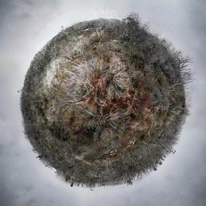 Colaje cu globuri pamantesti plutitoare, de Catherine Nelson - Poza 9