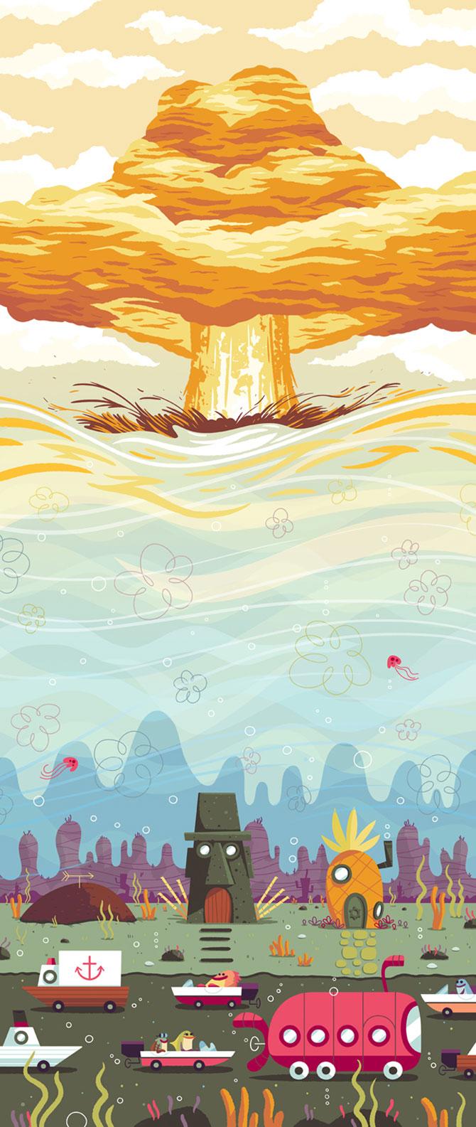 Desene animate in postere de Andrew Kolb - Poza 2