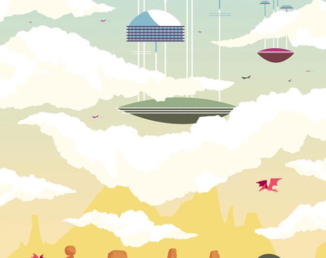 Desene animate in postere de Andrew Kolb - Poza 4