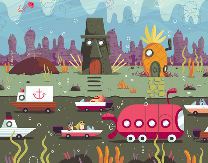 Desene animate in postere de Andrew Kolb - Poza 7