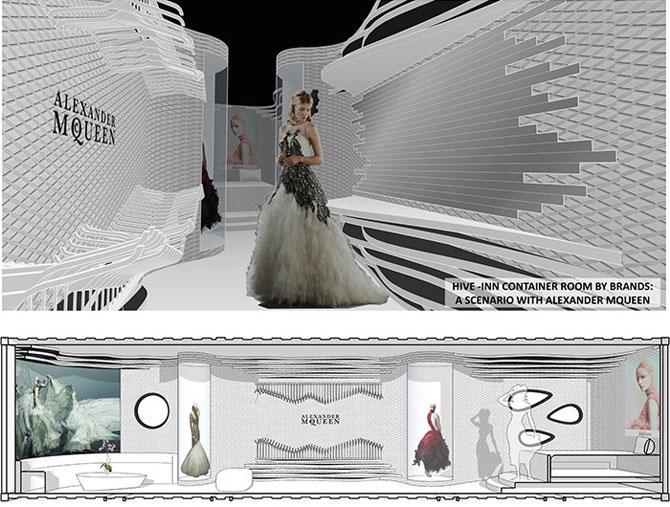 Proiect de hotel din containere multicolore - Poza 4