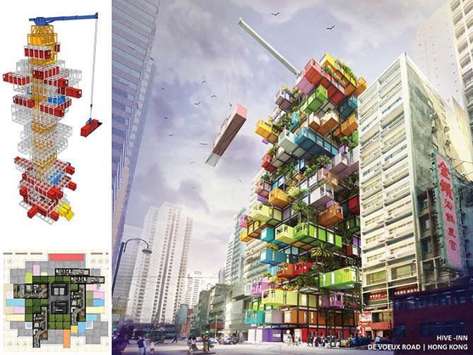 Proiect de hotel din containere multicolore - Poza 6