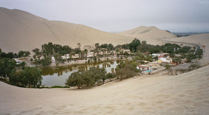 Oaza din Peru: Satul Huacachina - Poza 1