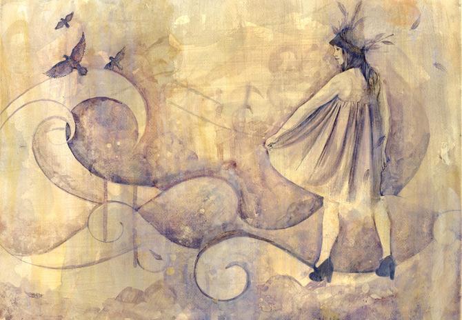 Kelly McKernan isi deseneaza varstele - Poza 15