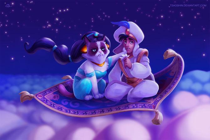 Grumpy Cat alaturi de personajele Disney - Poza 1