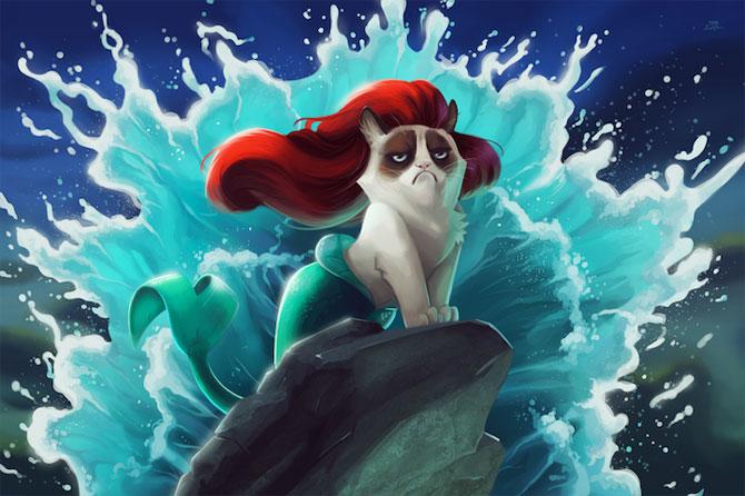 Grumpy Cat alaturi de personajele Disney - Poza 2