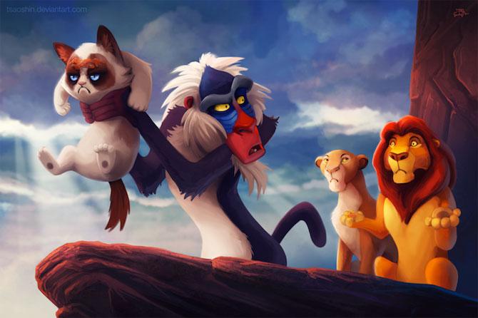 Grumpy Cat alaturi de personajele Disney - Poza 4