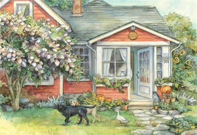 Lumea plina de flori si animale a lui Kim Jacobs - Poza 1