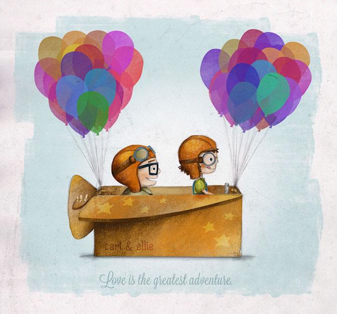 Desene simpatice, inspirate de Up! - Poza 1