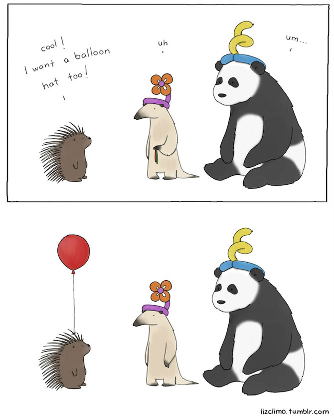 Ilustratii simpatice cu animale, de Liz Climo - Poza 2
