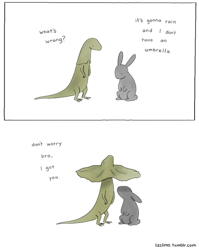 Ilustratii simpatice cu animale, de Liz Climo - Poza 6