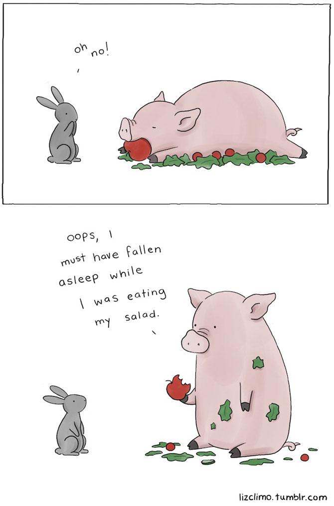 Ilustratii simpatice cu animale, de Liz Climo - Poza 7