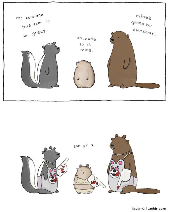 Ilustratii simpatice cu animale, de Liz Climo - Poza 11