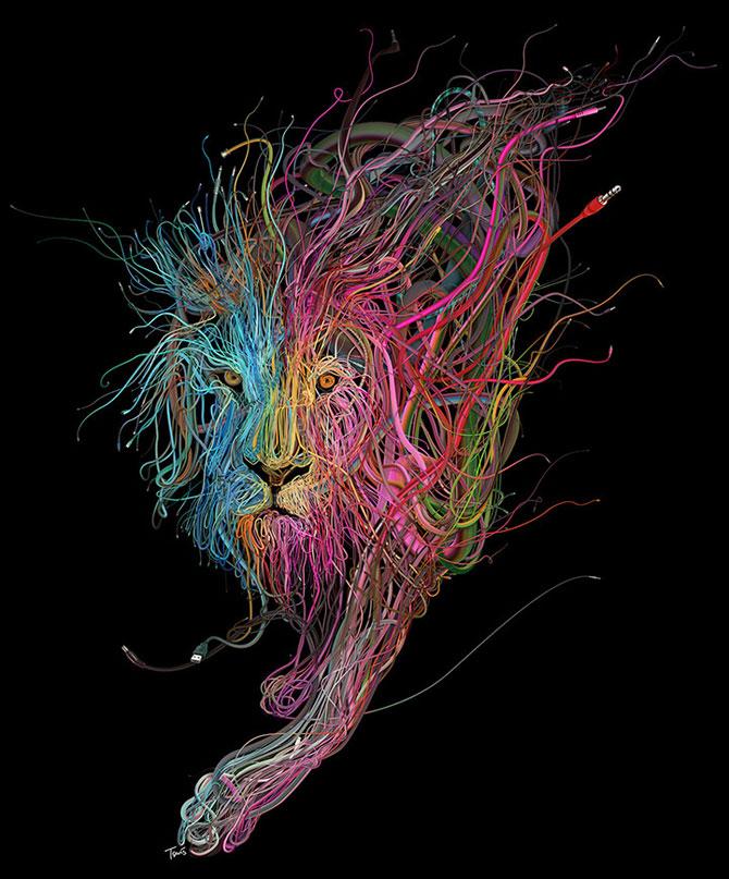Ilustratii complexe din cabluri, de Charis Tsevis - Poza 1