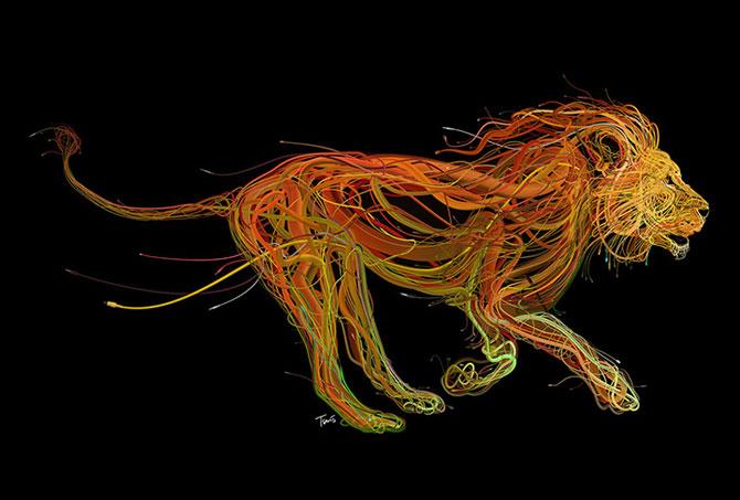 Ilustratii complexe din cabluri, de Charis Tsevis - Poza 2