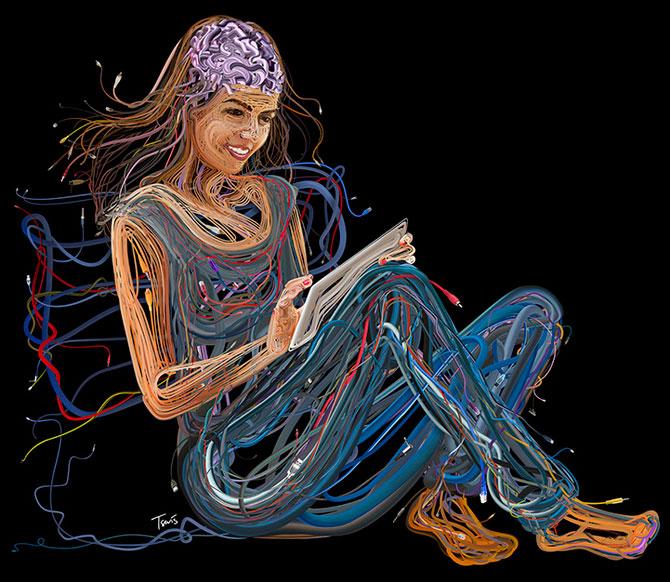 Ilustratii complexe din cabluri, de Charis Tsevis - Poza 5