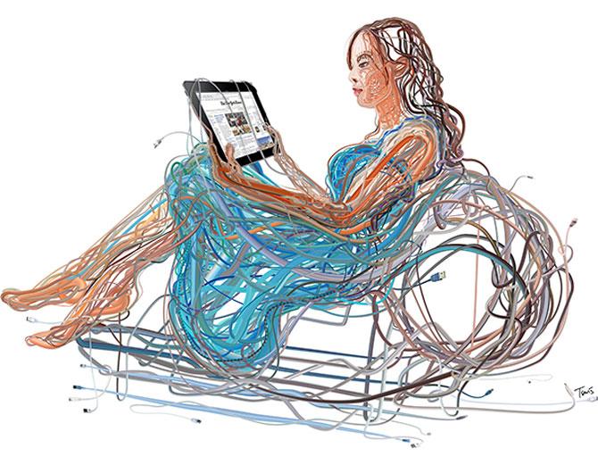 Ilustratii complexe din cabluri, de Charis Tsevis - Poza 7