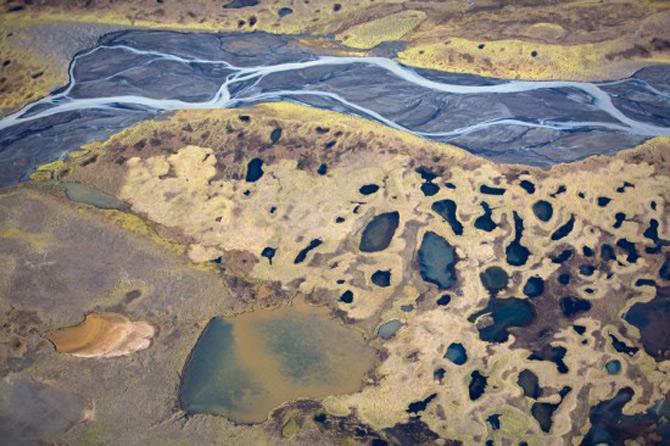 Peisaje islandeze fotografiate din varf de aripa - Poza 6