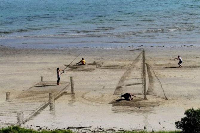 Picturi 3D pe nisip, de Jamie Harkins - Poza 1