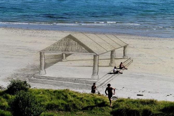 Picturi 3D pe nisip, de Jamie Harkins - Poza 2