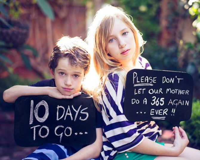 Angela Lumsden si-a fotografiat copiii zilnic timp de un an - Poza 15