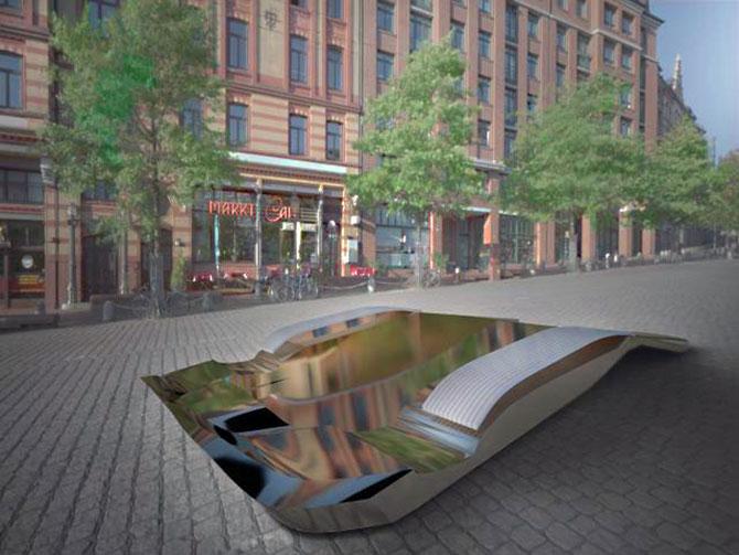 Masina ca opera de arta, sculptura ca loc de parcare, de Juraj Rattaj - Poza 3