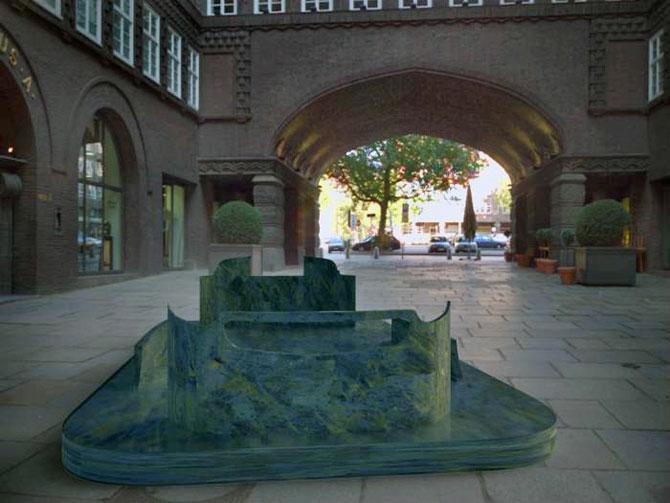 Masina ca opera de arta, sculptura ca loc de parcare, de Juraj Rattaj - Poza 4