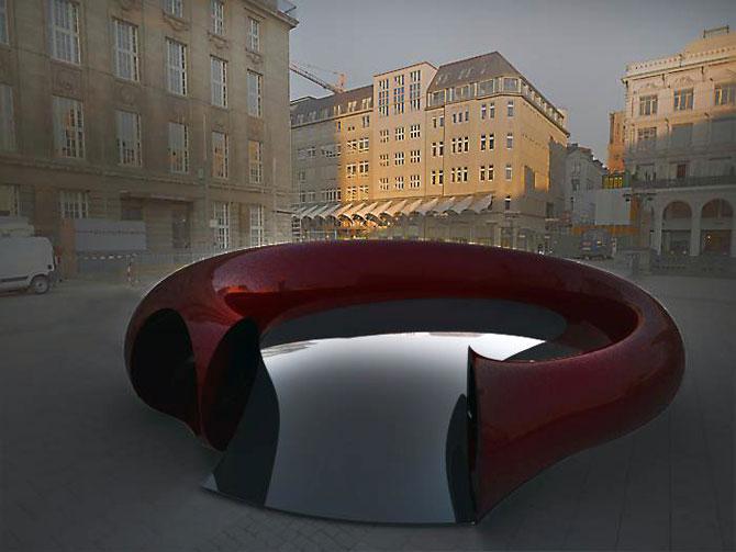 Masina ca opera de arta, sculptura ca loc de parcare, de Juraj Rattaj - Poza 5