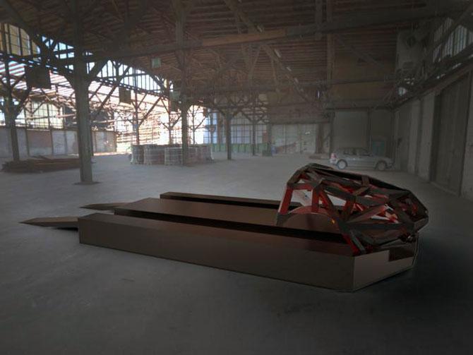 Masina ca opera de arta, sculptura ca loc de parcare, de Juraj Rattaj - Poza 7