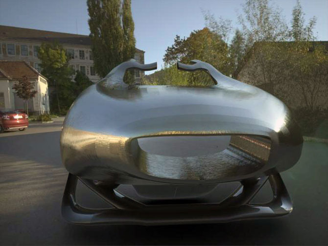 Masina ca opera de arta, sculptura ca loc de parcare, de Juraj Rattaj - Poza 8