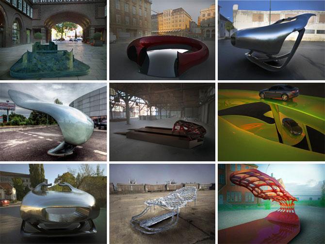 Masina ca opera de arta, sculptura ca loc de parcare, de Juraj Rattaj - Poza 10