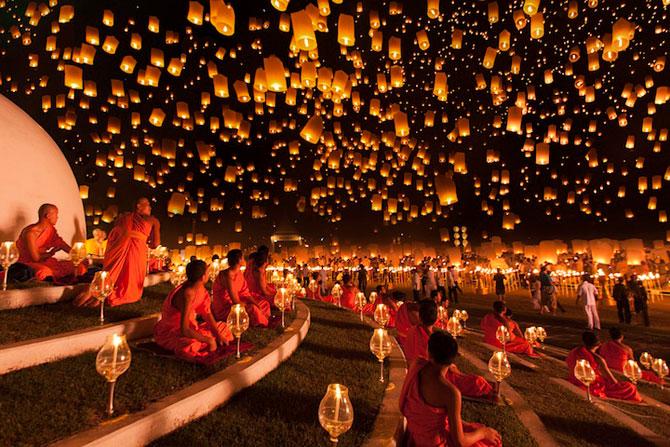 Festivalul lampioanelor din Thailanda, noiembrie 2012 - Poza 1
