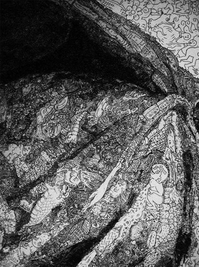 Desenele detaliate zen ale lui Sagaki Keita - Poza 4