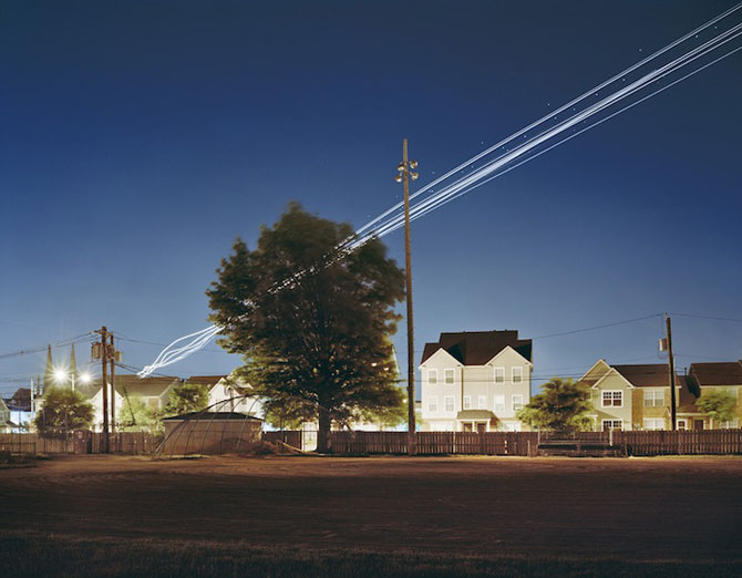 Avioanele deseneaza cu lumina pe cer - Poza 7