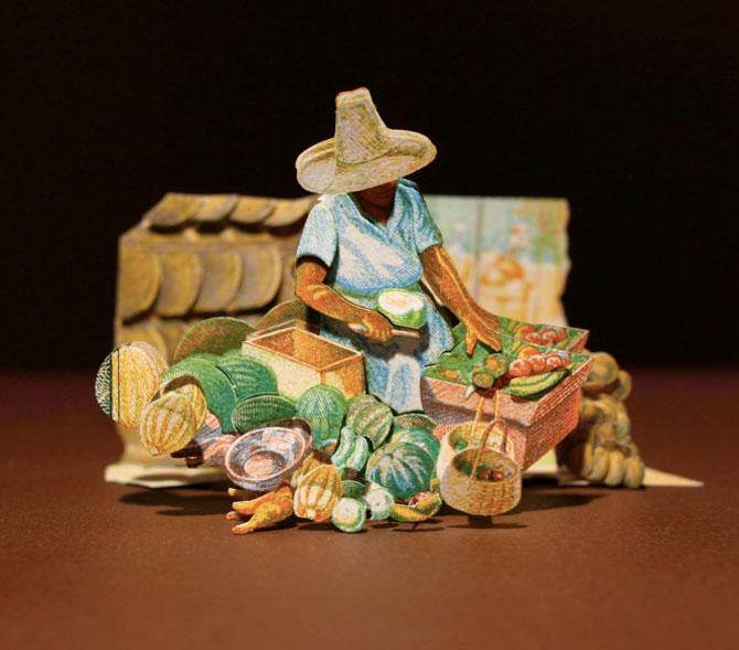 Sculpturi numismatice: flori, stele si copii de Kristi Malakoff - Poza 8