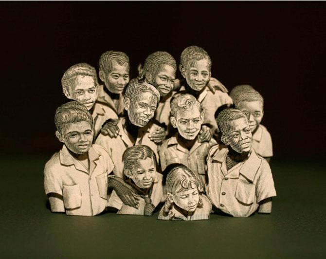 Sculpturi numismatice: flori, stele si copii de Kristi Malakoff - Poza 10